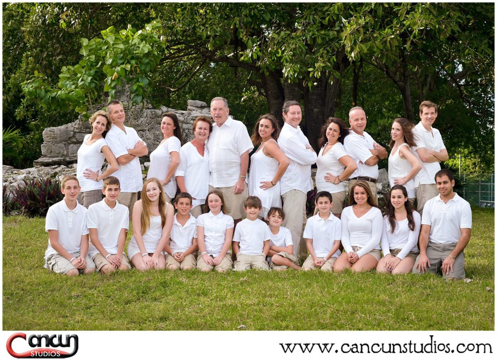 Family Reunion Portraits at Cancun Beach