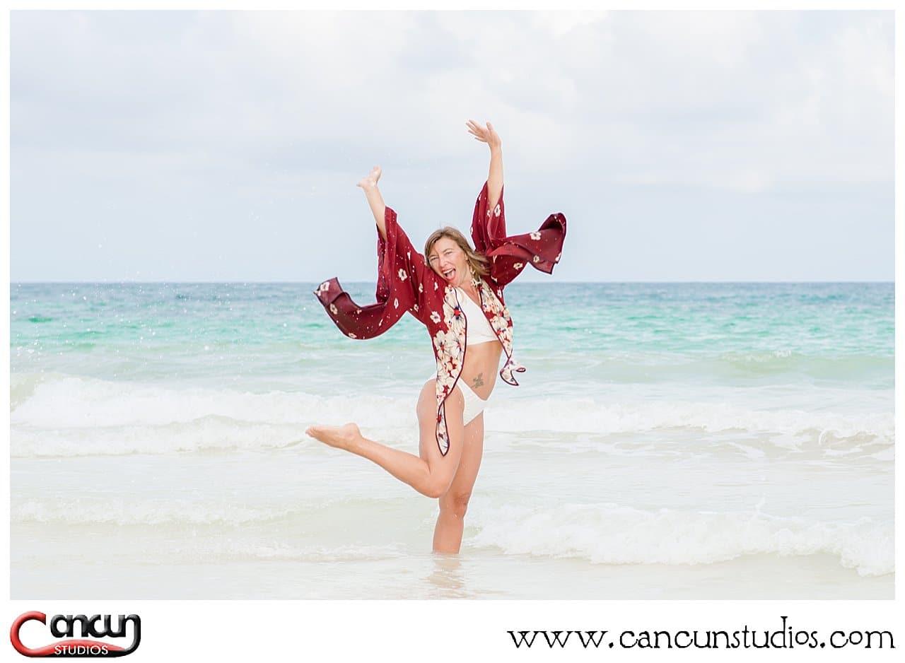 Swimsuit beach photo shoot